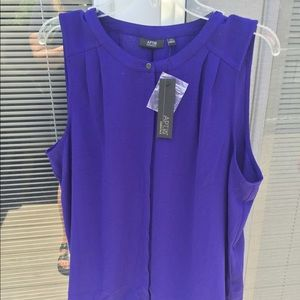 New ladies 2 x purple sleeveless blouse.